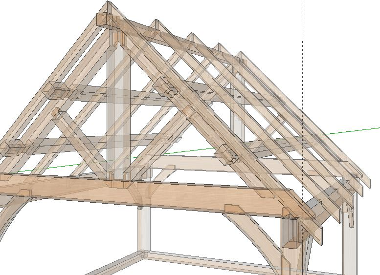Caribou Sketchup Hidden Joinery